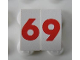 Part No: Mx1021Apb146  Name: Modulex Tile 1 x 2 with Red '6' / '9' Pattern