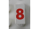 Part No: Mx1021Apb148  Name: Modulex Tile 1 x 2 with Red '8' Pattern