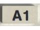 Part No: Mx1021Apb180  Name: Modulex, Tile 1 x 2 with Black 'A1' Pattern