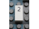 Part No: Mx1021Apb22  Name: Modulex Tile 1 x 2 with Black Calendar Day Number  '2' Pattern