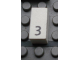 Part No: Mx1021Apb23  Name: Modulex Tile 1 x 2 with Black Calendar Day Number  '3' Pattern