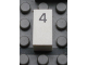 Part No: Mx1021Apb24  Name: Modulex Tile 1 x 2 with Black Calendar Day Number  '4' Pattern