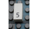 Part No: Mx1021Apb25  Name: Modulex Tile 1 x 2 with Black Calendar Day Number  '5' Pattern