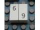 Part No: Mx1021Apb26  Name: Modulex Tile 1 x 2 with Black Calendar Day Number  '6' / '9' Pattern