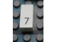 Part No: Mx1021Apb27  Name: Modulex Tile 1 x 2 with Black Calendar Day Number  '7' Pattern