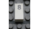 Part No: Mx1021Apb28  Name: Modulex Tile 1 x 2 with Black Calendar Day Number  '8' Pattern