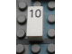 Part No: Mx1021Apb29  Name: Modulex Tile 1 x 2 with Black Calendar Day Number '10' Pattern