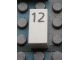 Part No: Mx1021Apb31  Name: Modulex Tile 1 x 2 with Black Calendar Day Number '12' Pattern