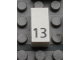 Part No: Mx1021Apb32  Name: Modulex Tile 1 x 2 with Black Calendar Day Number '13' Pattern