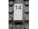 Part No: Mx1021Apb33  Name: Modulex Tile 1 x 2 with Black Calendar Day Number '14' Pattern