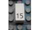Part No: Mx1021Apb34  Name: Modulex Tile 1 x 2 with Black Calendar Day Number '15' Pattern