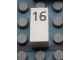 Part No: Mx1021Apb35  Name: Modulex Tile 1 x 2 with Black Calendar Day Number '16' Pattern