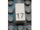 Part No: Mx1021Apb36  Name: Modulex Tile 1 x 2 with Black Calendar Day Number '17' Pattern