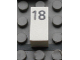 Part No: Mx1021Apb37  Name: Modulex Tile 1 x 2 with Black Calendar Day Number '18' Pattern