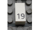 Part No: Mx1021Apb38  Name: Modulex Tile 1 x 2 with Black Calendar Day Number '19' Pattern