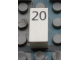 Part No: Mx1021Apb39  Name: Modulex Tile 1 x 2 with Black Calendar Day Number '20' Pattern