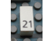 Part No: Mx1021Apb40  Name: Modulex Tile 1 x 2 with Black Calendar Day Number '21' Pattern