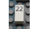 Part No: Mx1021Apb41  Name: Modulex Tile 1 x 2 with Black Calendar Day Number '22' Pattern