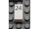 Part No: Mx1021Apb43  Name: Modulex Tile 1 x 2 with Black Calendar Day Number '24' Pattern