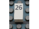 Part No: Mx1021Apb45  Name: Modulex Tile 1 x 2 with Black Calendar Day Number '26' Pattern