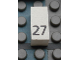 Part No: Mx1021Apb46  Name: Modulex Tile 1 x 2 with Black Calendar Day Number '27' Pattern