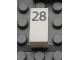 Part No: Mx1021Apb47  Name: Modulex Tile 1 x 2 with Black Calendar Day Number '28' Pattern