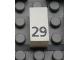 Part No: Mx1021Apb48  Name: Modulex Tile 1 x 2 with Black Calendar Day Number '29' Pattern