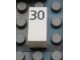 Part No: Mx1021Apb49  Name: Modulex Tile 1 x 2 with Black Calendar Day Number '30' Pattern