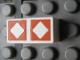 Part No: Mx1021Apb67  Name: Modulex, Tile 1 x 2 with Orange Diamonds Outline Pattern
