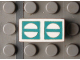 Part No: Mx1021Apb69  Name: Modulex Tile 1 x 2 with Green Circles Crossed Outline Pattern