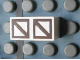 Part No: Mx1021Apb72  Name: Modulex Tile 1 x 2 with Dark Brown Squares with Diagonal Pattern