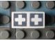 Part No: Mx1021Apb73  Name: Modulex Tile 1 x 2 with Gray Crosses Outline Pattern