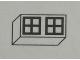 Part No: Mx1021Apb74  Name: Modulex Tile 1 x 2 with Black Squares Crossed Perpendicular Pattern