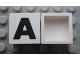 Part No: Mx1022Apb065  Name: Modulex Tile 2 x 2 with Black 'A' Pattern (no internal support)