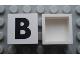 Part No: Mx1022Apb066  Name: Modulex Tile 2 x 2 with Black 'B' Pattern (no internal support)