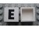 Part No: Mx1022Apb069  Name: Modulex Tile 2 x 2 with Black 'E' Pattern (no internal support)
