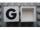 Part No: Mx1022Apb071  Name: Modulex Tile 2 x 2 with Black 'G' Pattern (no internal support)