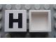 Part No: Mx1022Apb072  Name: Modulex Tile 2 x 2 with Black 'H' Pattern (no internal support)