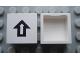 Part No: Mx1022Apb090  Name: Modulex Tile 2 x 2 with Black Arrow Pattern (no internal support)