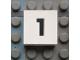 Part No: Mx1022Apb104  Name: Modulex Tile 2 x 2 with Black Calendar Week Number  '1' Pattern