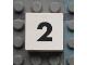 Part No: Mx1022Apb105  Name: Modulex Tile 2 x 2 with Black Calendar Week Number  '2' Pattern