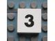 Part No: Mx1022Apb106  Name: Modulex Tile 2 x 2 with Black Calendar Week Number  '3' Pattern