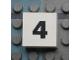 Part No: Mx1022Apb107  Name: Modulex Tile 2 x 2 with Black Calendar Week Number  '4' Pattern