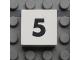 Part No: Mx1022Apb108  Name: Modulex Tile 2 x 2 with Black Calendar Week Number  '5' Pattern