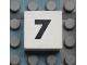 Part No: Mx1022Apb110  Name: Modulex Tile 2 x 2 with Black Calendar Week Number  '7' Pattern
