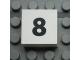 Part No: Mx1022Apb111  Name: Modulex Tile 2 x 2 with Black Calendar Week Number  '8' Pattern