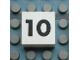 Part No: Mx1022Apb113  Name: Modulex Tile 2 x 2 with Black Calendar Week Number '10' Pattern