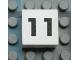 Part No: Mx1022Apb114  Name: Modulex Tile 2 x 2 with Black Calendar Week Number '11' Pattern
