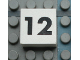 Part No: Mx1022Apb115  Name: Modulex Tile 2 x 2 with Black Calendar Week Number '12' Pattern