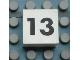 Part No: Mx1022Apb116  Name: Modulex Tile 2 x 2 with Black Calendar Week Number '13' Pattern